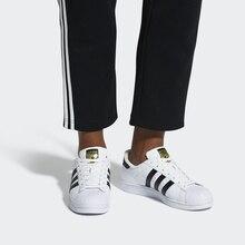 Adidas официальный суперзвезда для женщин мужчин's обувь для скейтбординга Спорт на открытом воздухе спортивная обувь низкий Топ хорошее качество