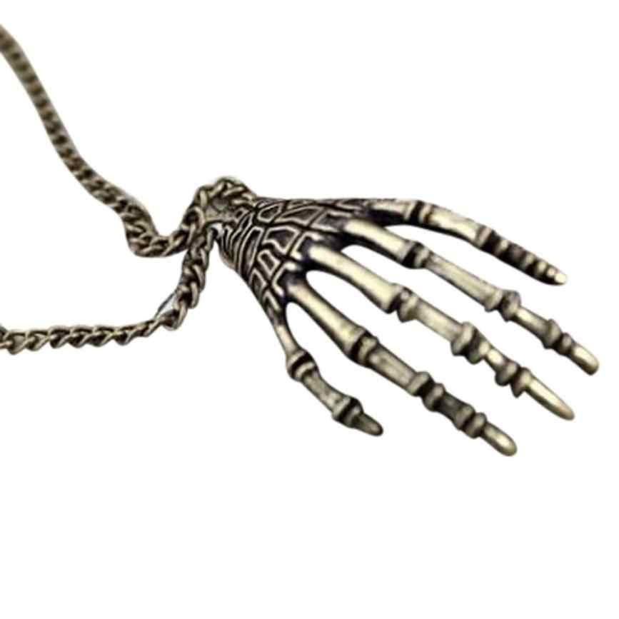 جديد نمط إمرأة القلائد الفتيات خمر فاسق القوطية الجمجمة المختنق أسورة يد طويلة سلسلة قلادة مجوهرات عزم الدوران رائع حلية
