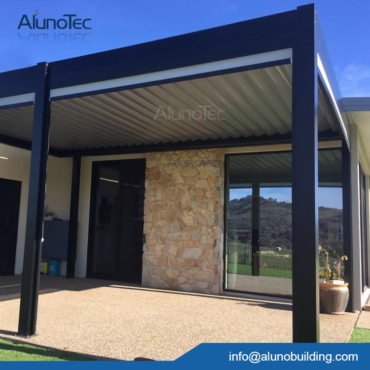 aluno 4 m 6 m de aluminio sistema de techado prgola de aluminio elctrica motorizada