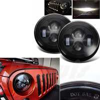 2 X Round H13 H4 H L 40W 7inch 7 LED Headlight For Jep Wrangler JK