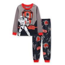Купить с кэшбэком  Kids Cotton Pajamas Children Sleepwear  Boys Girls  cartoon long-sleeved Cartoon  pyjamas Baby Pajamas Sets cotton nightwear
