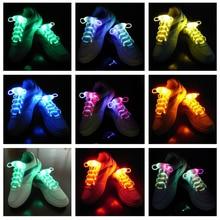 300 PAARE/LOS Multicolors Leuchten LED Schnürsenkel Neue Mode Jungen Mädchen Schuhe Schnürsenkel Disco Party Leuchtende Nacht Schuhe Saiten