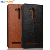Case For Asus Zenfone Go TV ZB551KL KEZiHOME Genuine Leather Flip Stand Leather Cover For ASUS