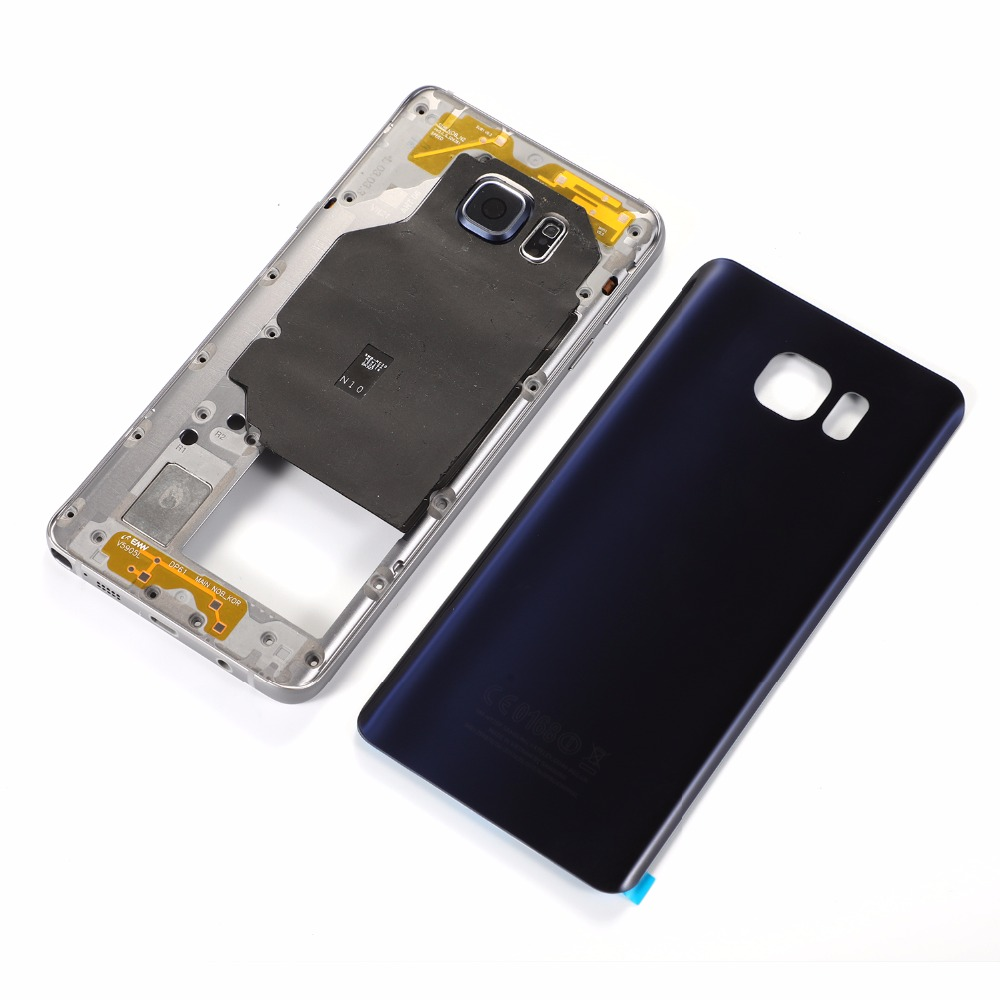 For Samsung Galaxy Note 5 N920 N920F Housing Metal Middle Frame+Glass Battery Back Cover+Back Sticker(NOTE 5 All Versions)