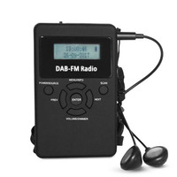 Portable DAB/DAB+/FM Radio LCD Pocket Digital DAB Receiver Rechargeable Battery EM88