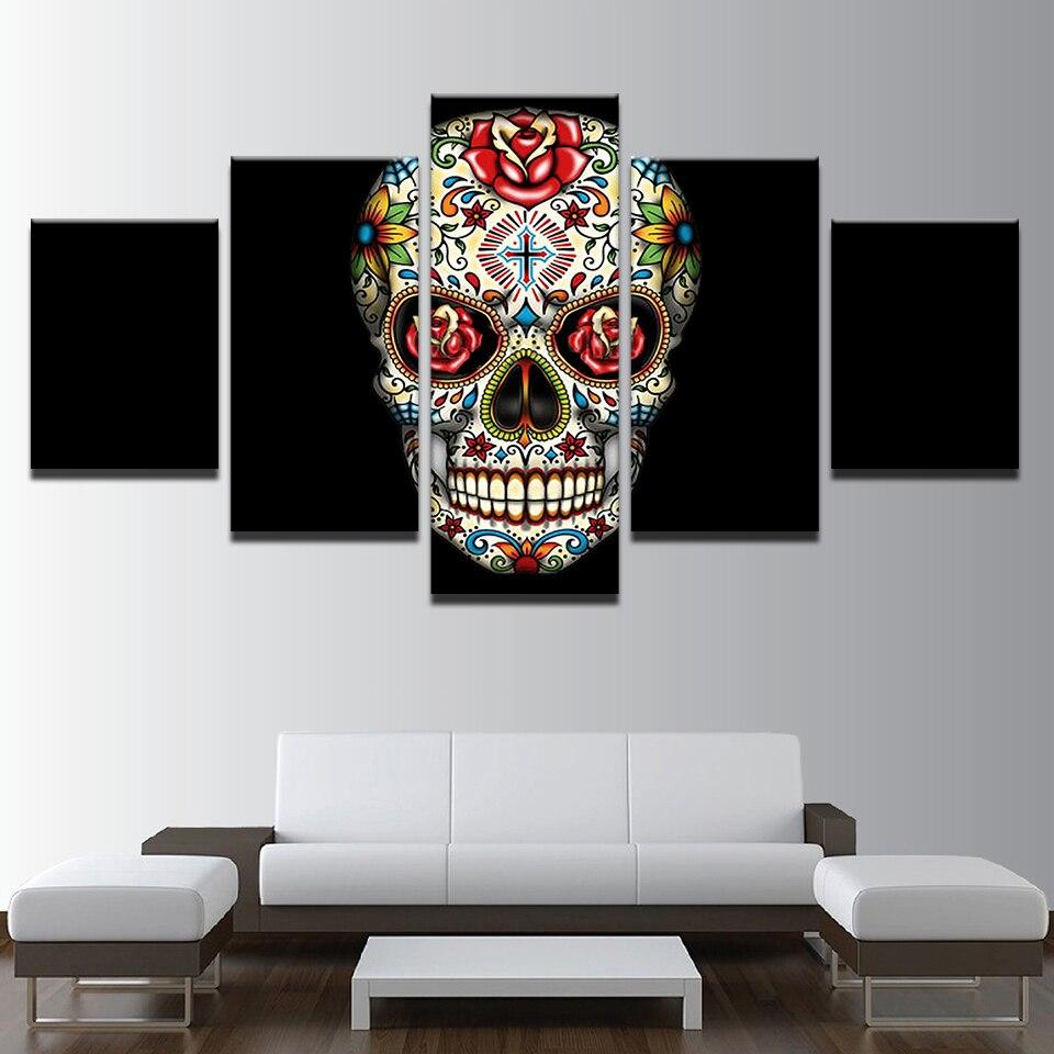 Lona HD imprime cuadros modular Wall Art Decoración para el hogar 5 ...