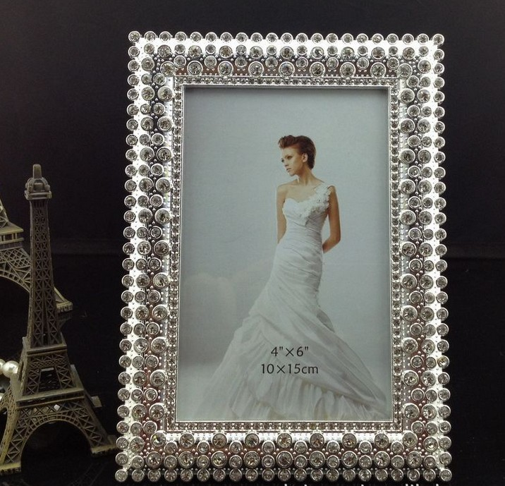 Luxury 4x6 Inch Sided Rectangle Zinc Metal Picture Frames Bulk