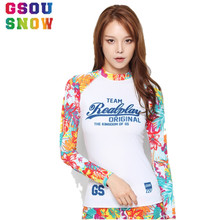 Gsou Snow Brand Women Beach Surfing Shirts Summer Diving Wetsuit Shirts Women Long Sleeve Womens Kiteboard Surfing Swimwear Tops(China)