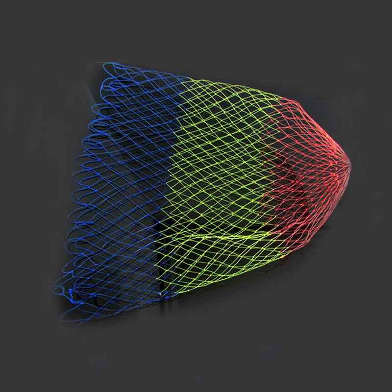 Rede de pouso pesca com mosca rede de pouso colorido substituição saco de pouso malha cesta (circunferência líquida 20 Polegada)
