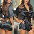 Hot Sale New 2015 Sexy Lingerie Set Backless Lace Plus Size Erotic Lingerie Women Sexy Costume Sleepwear Nightwear  QQ024