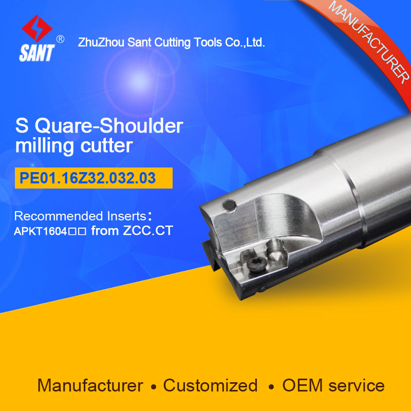 S-shoulder milling cutter Indexable insert APKT1604 From ZCC.CT disc PE01.16Z32.032.03/EMP01-032-G32-AP16-03 hot selling Abroad
