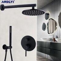 Латунные черные Смесители для ванны 8 12 дождевая душевая головка для ванной комнаты душевой набор переключатель смеситель клапан Душевая с