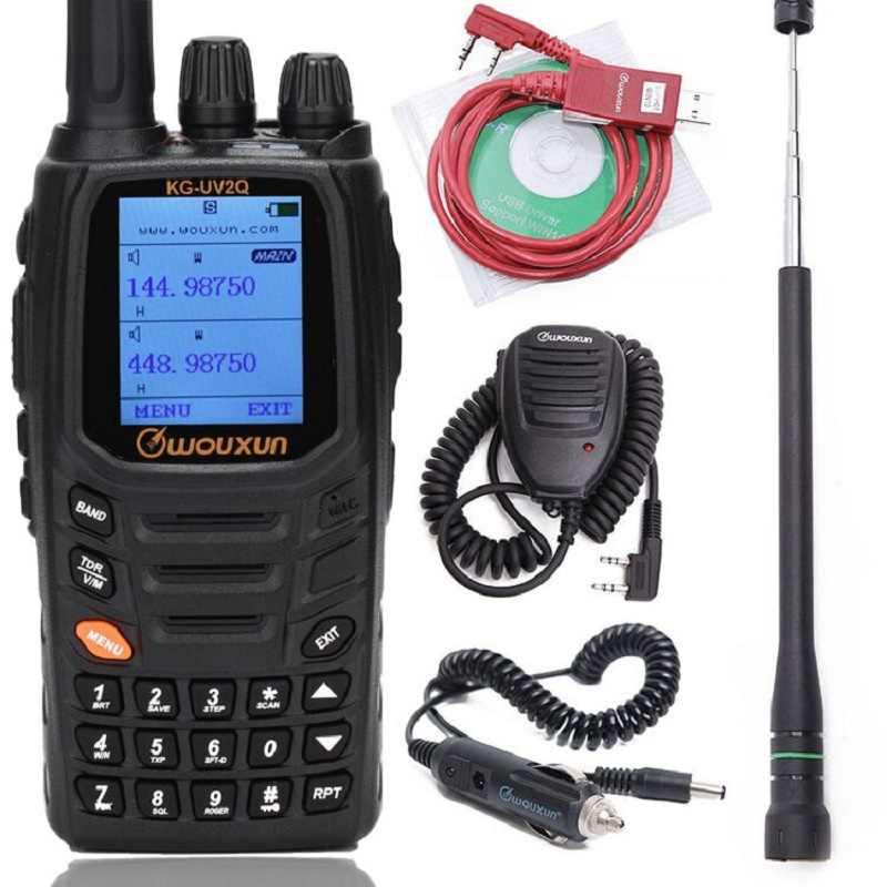 Wouxun KG-UV2Q 8W Powerfrul 7 bandes/bande d'air répéteur de bande croisée Circuit classique talkie-walkie mise à niveau KG-UV9D Plus combinaison