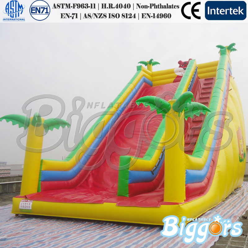 YARD Inflatable Water Slide Pool Jumping Bouncer Castle With Air Blower Carry Bag