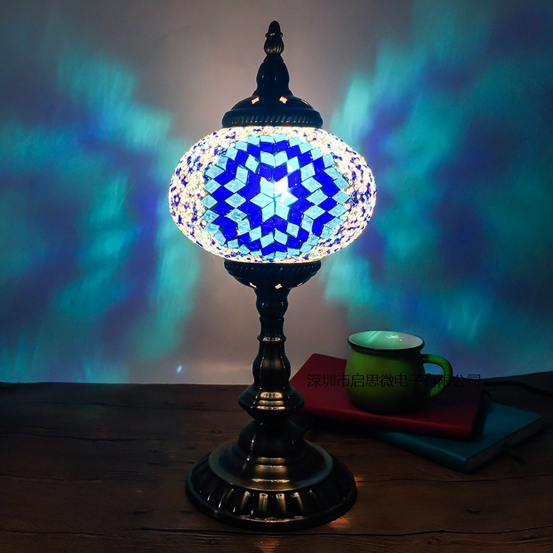 Здесь можно купить  New Style E14 Hand-inlaid glass mosaic bedroom living room decorative Table Lamps of Mediterranean style Turkish Lamps  Свет и освещение