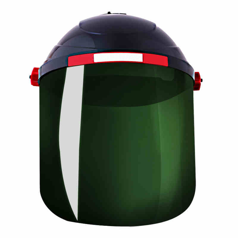 Welding Protective Masks The head-mounted Anti-shock Anti-splash Mask High Strength Working Safety Welding Cap Adjustment knob high quality airsoft mask pc the lens used for cs welding polishing dust the face protect mask splash proof material safety mask