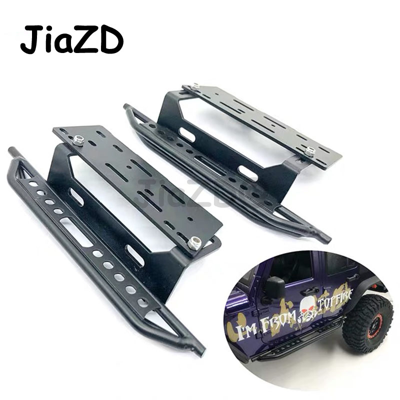 1pair Metal Side Pedal For 1/10 Jeep Cherokee Wrangler Axial Scx10 90046 90047 Side Step Side Guard Plate protective Side step
