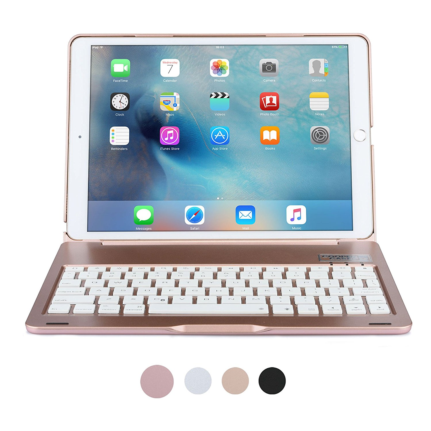 For iPad Pro 10.5 Keyboard case,Bluetooth Wireless Keyboard Case for Apple iPad 10.5 A1701 A1709 Tablet Case with 7 Backlight tablet cover for ipad pro 10 5 inch detachable bluetooth keyboard case for 2017 ipad 10 5 a1701 a1709 stand cases