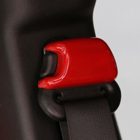 4PCS Seats Safety Belt Button Cover Trim Interior Accessories Kits ABS Frame Decoration For Jeep Wrangler