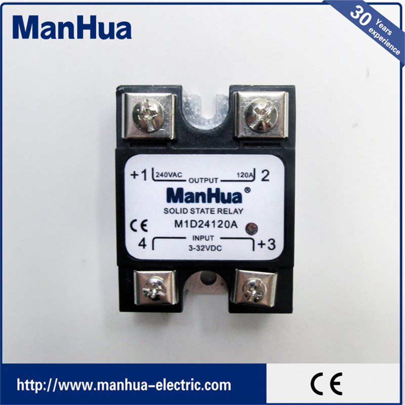 Manhua Hot Product Single Phase 3-32VDC Control AC 240V 120A SSR Solid State Relay normally open single phase solid state relay ssr mgr 1 d48120 120a control dc ac 24 480v