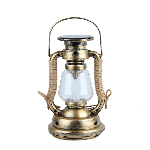 Vintage LED Solar Candle Light Outdoor Candlestick Lamp Waterproof Garden Lights Warm White Hanging Lamps Home Decoration