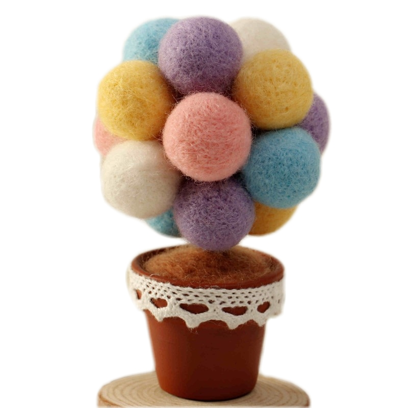Baby Most Popular Photography DIY Wool Props Needlepoint Kit Felt Infant Picturing Decoration Lovely Wishing Tree