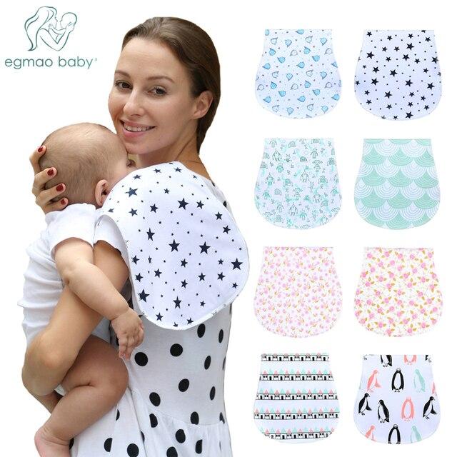 Bebé Burp paños Unisex de bebé 100% algodón orgánico suave y absorbente toallas eructos trapos para recién nacidos regalo de la Ducha del bebé