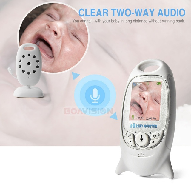 VB601 2.4Ghz Video Baby Monitors Wireless 2.0 Inch LCD Screen 2 Way Talk IR Night Vision Temperature Security Camera 8 Lullabies 2