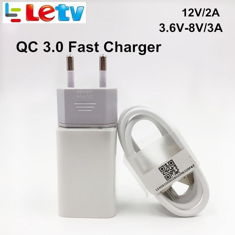 imágenes para Cargador Rápido Para LE Original LETV pro 3 1 1 s Max 2 12 V/2A Qualcomm Carga Rápida QC 3.0 Usb Adaptador de Cargador de Pared y Cable de Datos