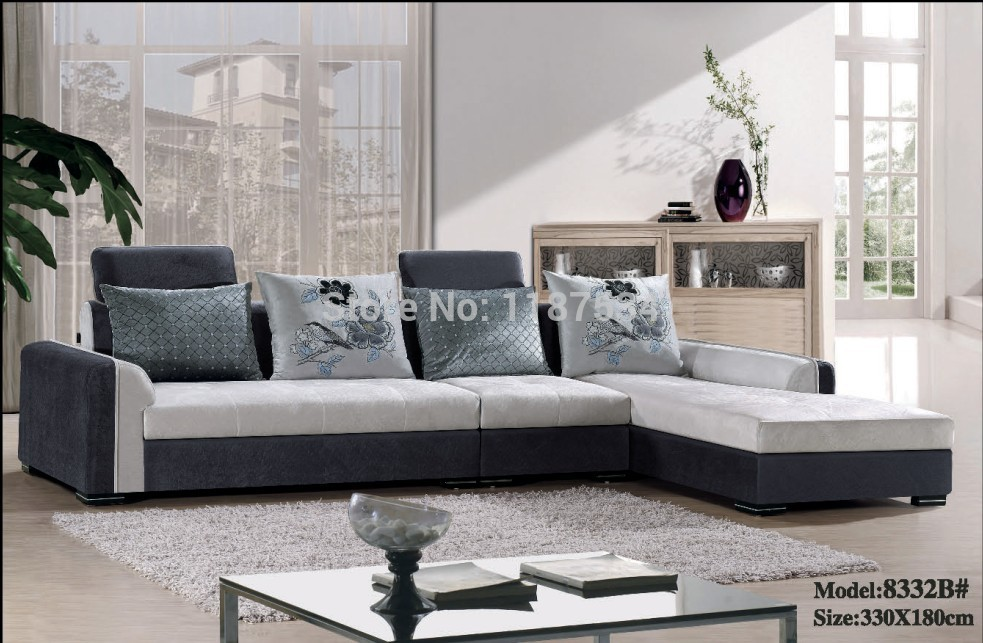 8332b High Quality Factory Price Home Furniture Living Room Sofa Sets Fabric Corner Sofa Set In