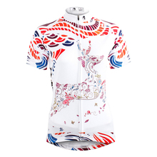 2017 Summer Women Cycling Jersey Tops Short Sleeve Deer Print Outdoor Sport Colthing Bike Specialized tracksuit ropa ciclismo