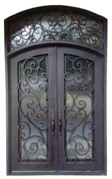 Custom Design Forged Wrought Iron Front Doors Entry H Wid15
