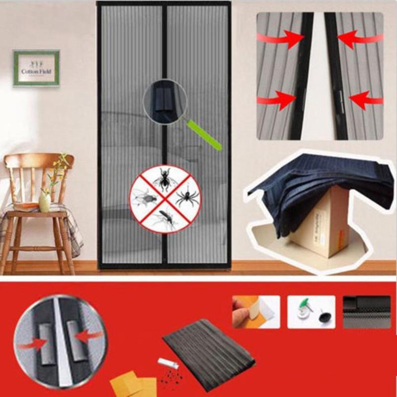 1 Paar Hand Freies Magnetische Moskito Net Tür Vorhang Anti Moskito Tüll Tür Bildschirm Net Fly Bug Mesh Insekt Netting Magneten Eleganter Auftritt