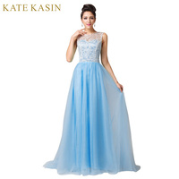 Sexy Design Fashion Women Winter ball Long Lace Evening Dresses Party Prom Gown Floor Length Blue Formal Evening Dress 6108