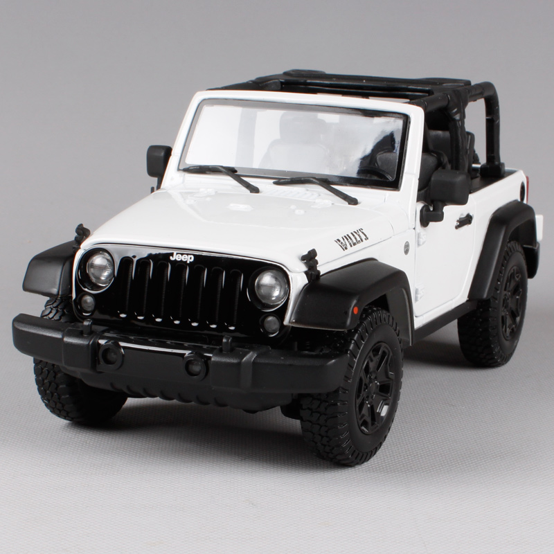 Maisto 1:18 2014 JEEP Wrangler WILLYS SUV Convertible Diecast Model Car Toy New In Box Free Shipping 31610 1 18 all new jeep wrangler willys 2017 cabrio off road vehicle suv alloy toy car