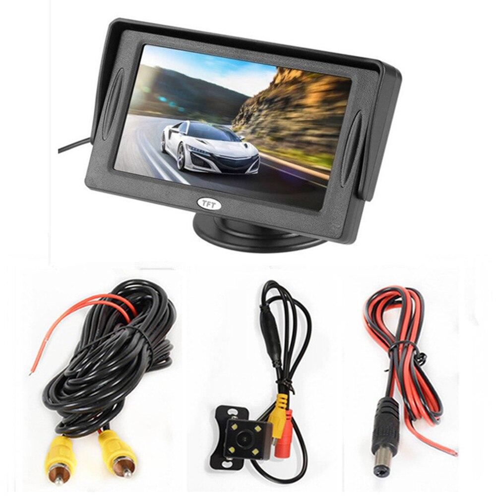 4,3 дюймовый TFT ЖК-цветной экран автомобильный монитор заднего вида парковочная помощь, камера заднего вида опционально - Цвет: With camera wired05
