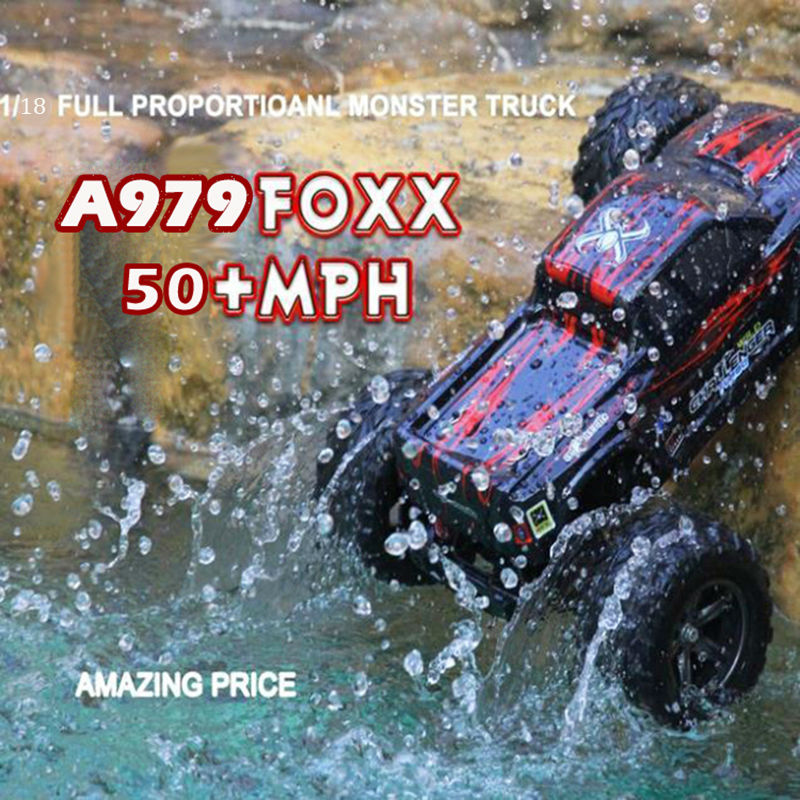 High quality RC car 2.4G 1:18 RC 4WD SPEED RACER Full Scale Remote Control Car RC Monster Truck with Shock System 50KM/H