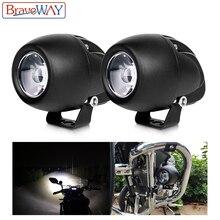 цены BraveWay Car Styling Motorcycle Led Works Light for Truck ATV OffRoad Motorbike Auxiliary Spot Lamp Driving 12V 24V Fog Lights