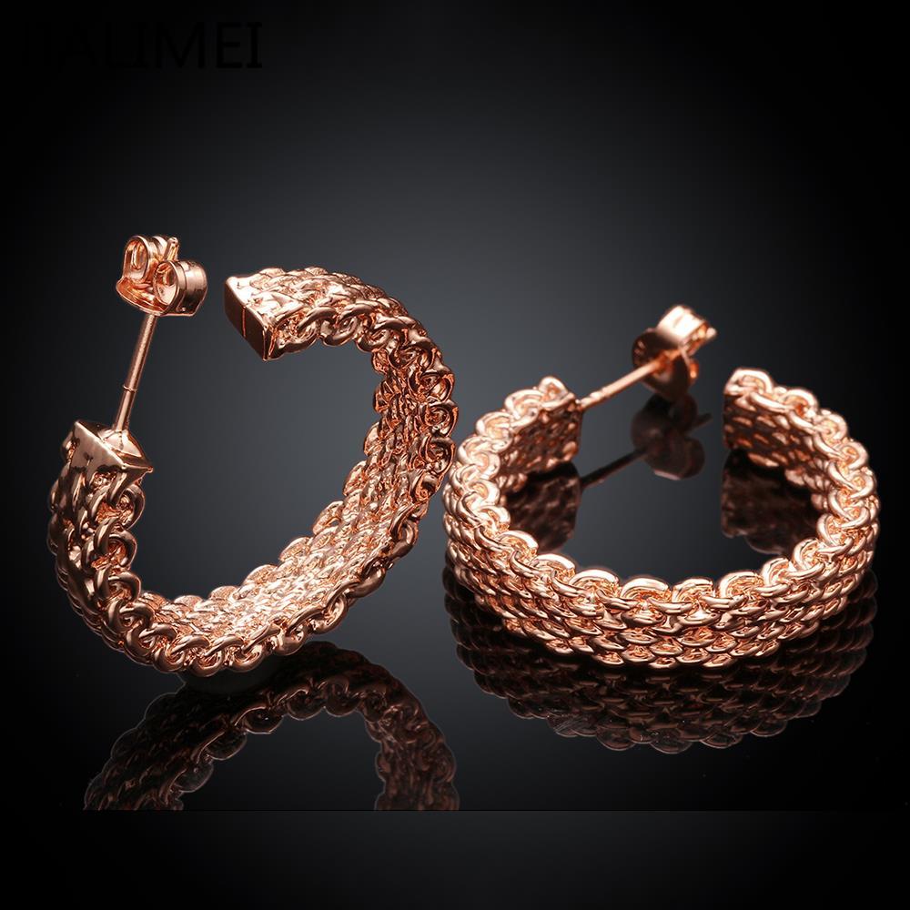 Новое поступление Роскошь розовое золото Цвет Серьги для Обручение Для женщин Циркон Кристалл jialimei ювелирный бренд e029-b