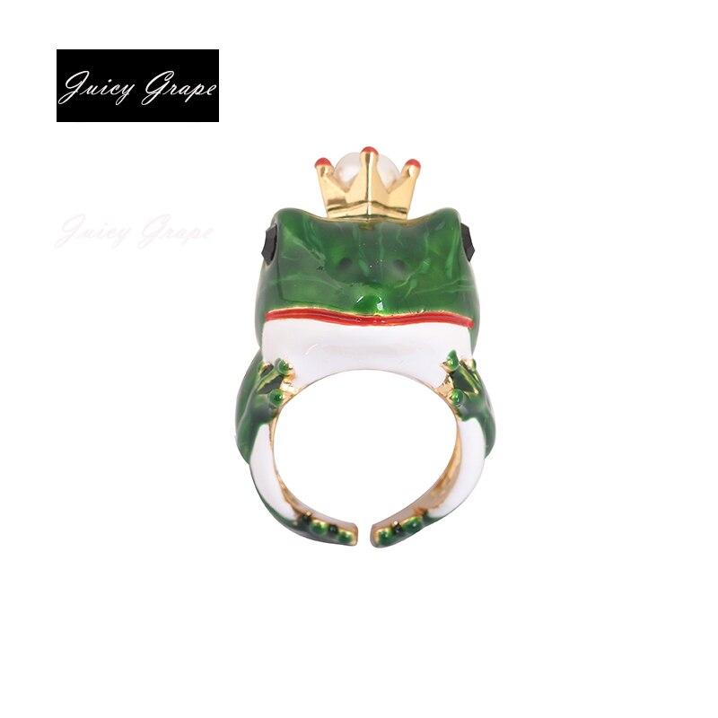 New Style Frog Ring Elegant Noble Animal Jewelry Enamel Glaze Ring