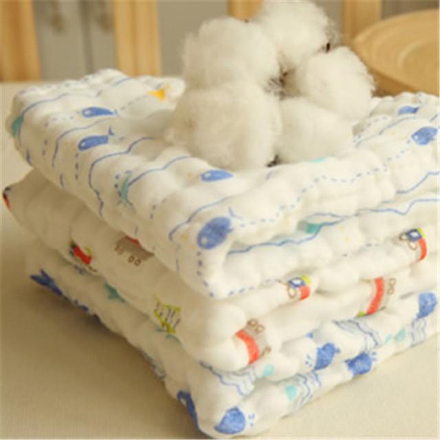 Gaze de algodão do bebê recém-nascido towel bibs lenço hydrofiele doeken lenços umedecidos pequeno branco muslin rosto towel filhos 50a010