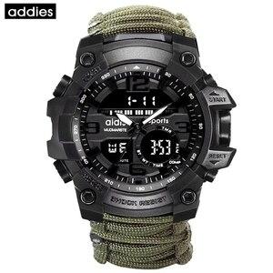 Image 5 - Addies G Shock Mannen Militaire Horloge Met Kompas 3Bar Waterdichte Horloges Digitale Beweging Outdoor Fashion Casual Sport Horloge Mannen