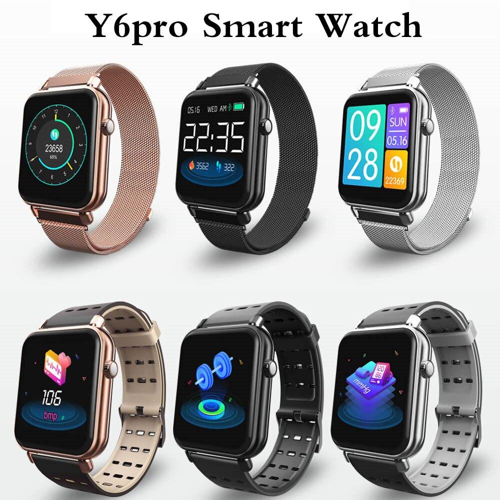 Y6pro montre intelligente hommes femmes Bluetooth montre électronique podomètre fréquence cardiaque sport horloge de course Tracker de Fitness nouvelle montre intelligente