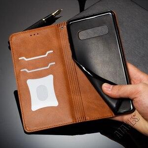 Image 5 - المغناطيسي محفظة جلدية حقيبة لهاتف سامسونج غالاكسي A50 A40 A30 A20 A6 A7 A8 M10 M20 نوت 9 8 S10 زائد S10e S9 S8 S7 غطاء