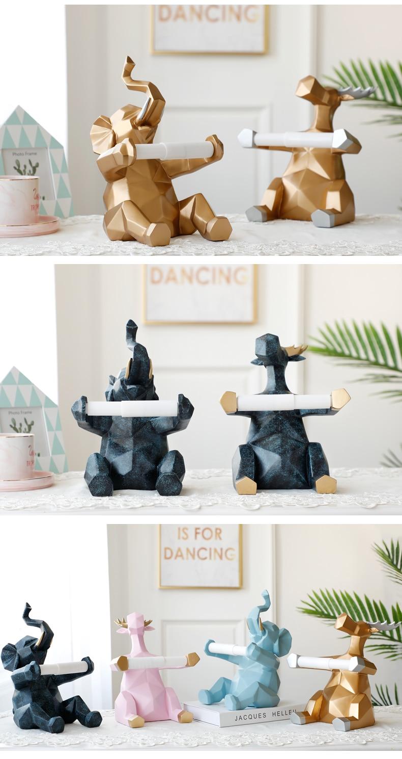Statue artisanat décorations porte-rouleau de papier