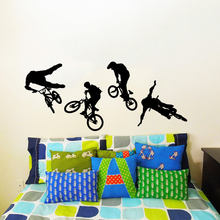 Cool Bike Cyclist Bmx Sport Wall Decals Vinyl Stickers Embellish Home Wallpaper Bedroom Removeable Ornament Posters Murals S 104