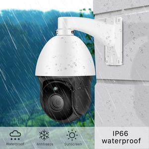 Image 4 - Besder H.265 ptz ipカメラ 30Xズーム防水Hi3516Eミニスピードドームカメラ屋外ir 60 メートルcctvセキュリティカメラip onvif警告