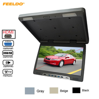 22 Inch Bus Car Flip Down TFT LCD Screen Celling Roof Mounted HD Overhead Monitor with IR Transmitter/HDMI/VGA/MP5/FM/Speaker