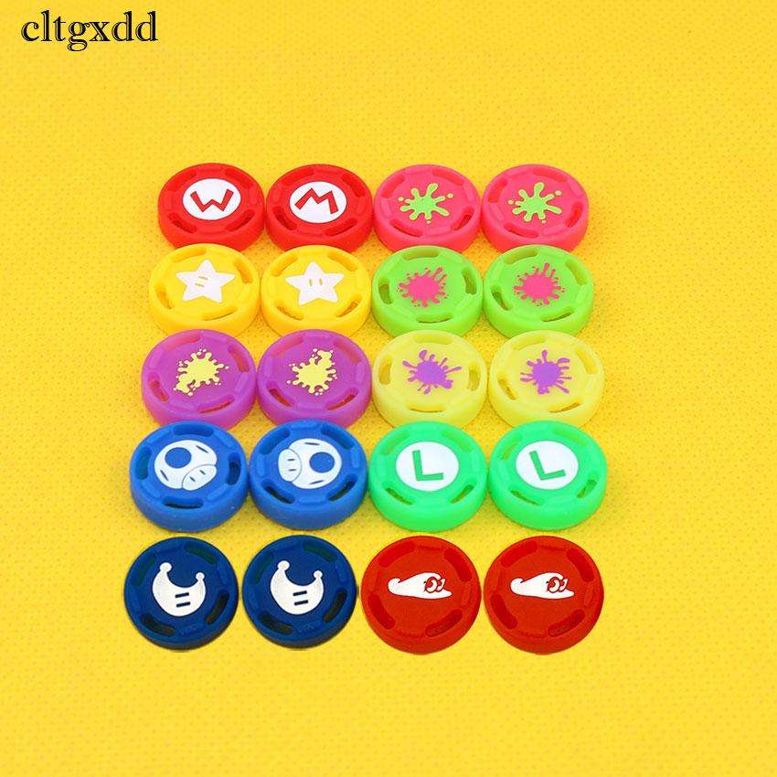 Cltgxdd 4pcs/Set 3D Analog Joystick Caps For Nintendo Switch Thumbstick Grip Gamepad Silicone Cap For NS Joy Con