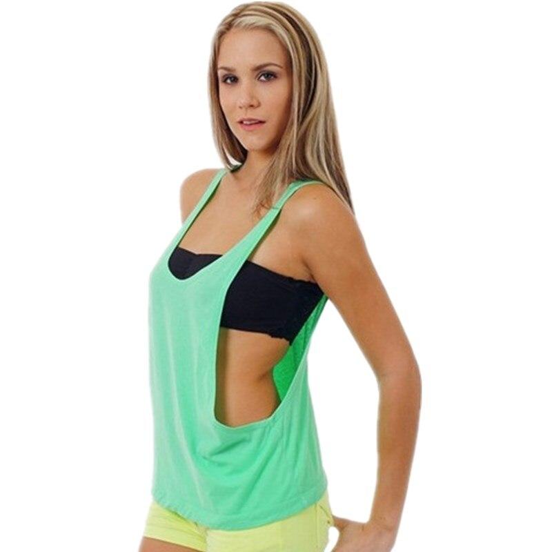 100% Baumwolle Die Frauen Bewegung Tank Top Fitness Halt Pads Stretching übung Meistverkauften Europa Und Die Vereinigten Staaten